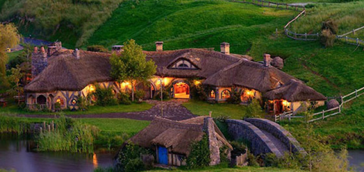 The Green Dragon Pub, in The Shire, in Matamata, New Zealand